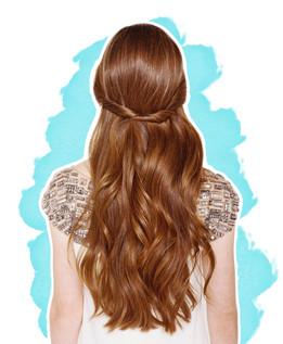 Mädchen mit langen Haaren